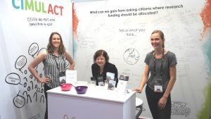 CIMULACT stand at ESOF